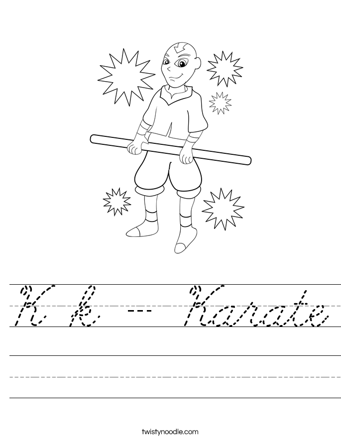 K k - Karate Worksheet