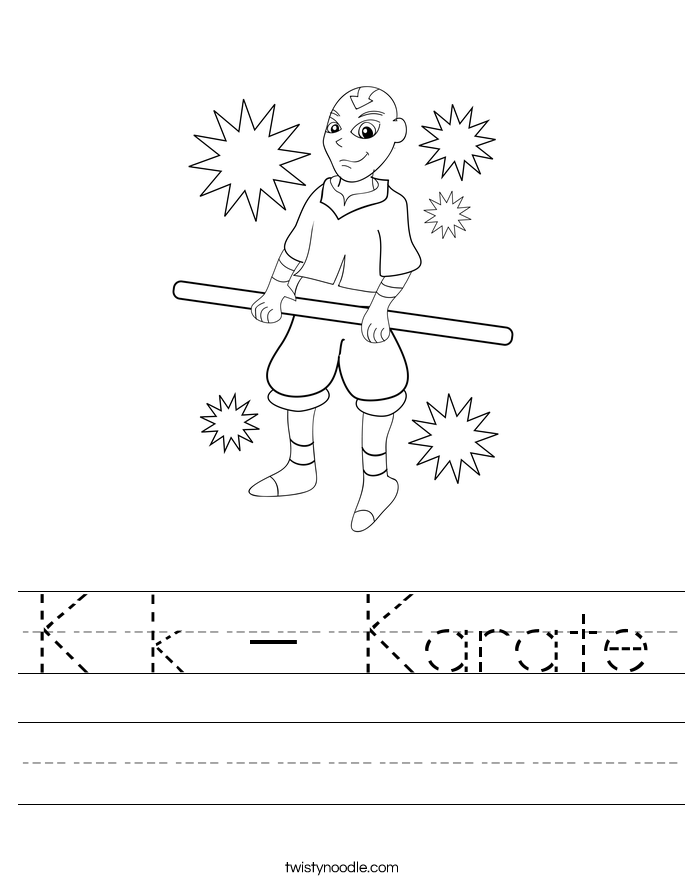 K k - Karate Worksheet