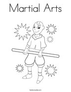 Martial Arts Coloring Page