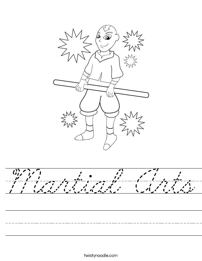 Martial Arts Worksheet