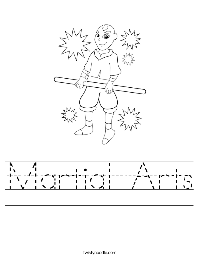 Martial Arts Worksheet