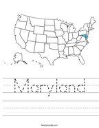 Maryland Handwriting Sheet