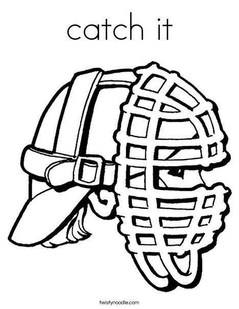 Mask Coloring Page