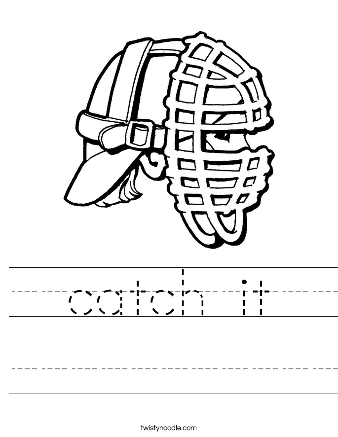 catch it Worksheet
