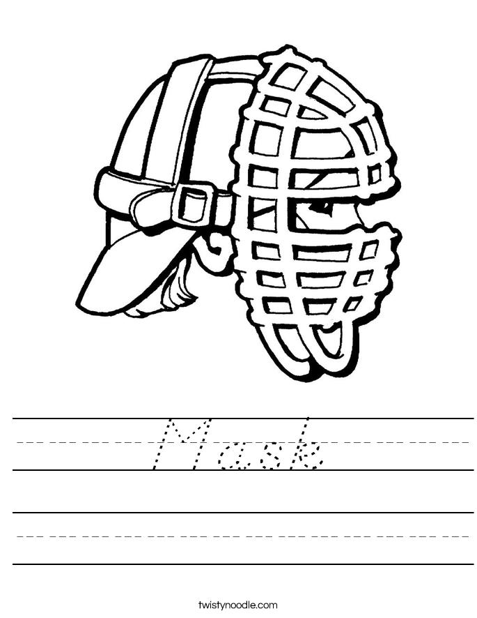 Mask Worksheet