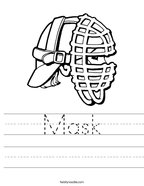Mask Handwriting Sheet