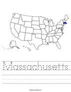 Massachusetts Handwriting Sheet
