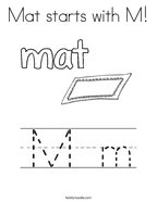 Mat starts with M Coloring Page