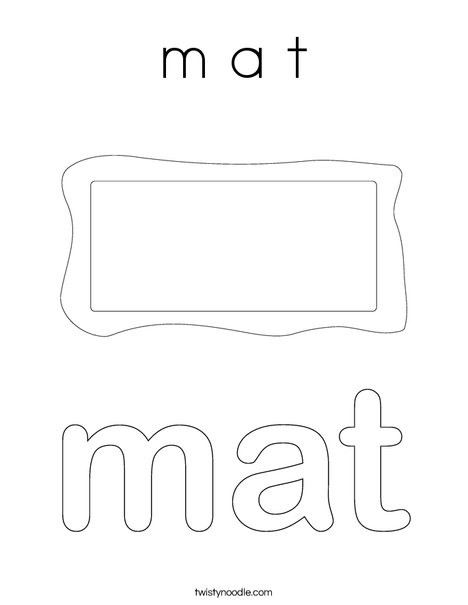 Mat Coloring Page