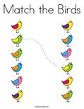 Match the Birds Coloring Page