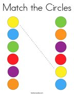 Match the Circles Coloring Page