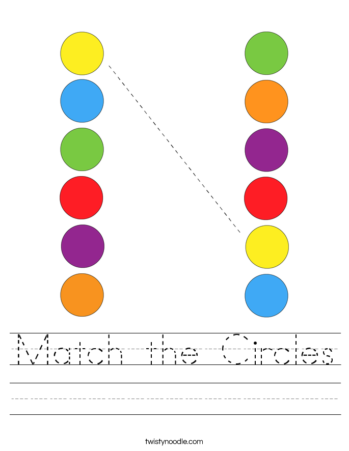 Match the Circles Worksheet