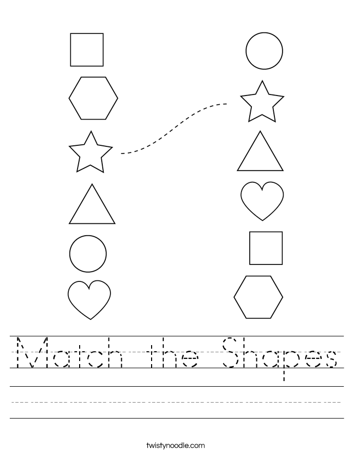 Match the Shapes Worksheet