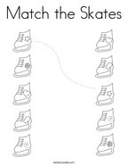 Match the Skates Coloring Page