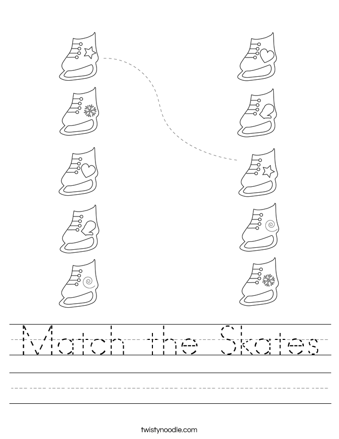 Match the Skates Worksheet