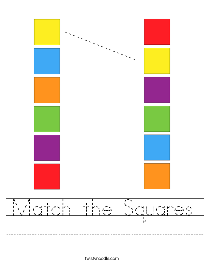 Match the Squares Worksheet