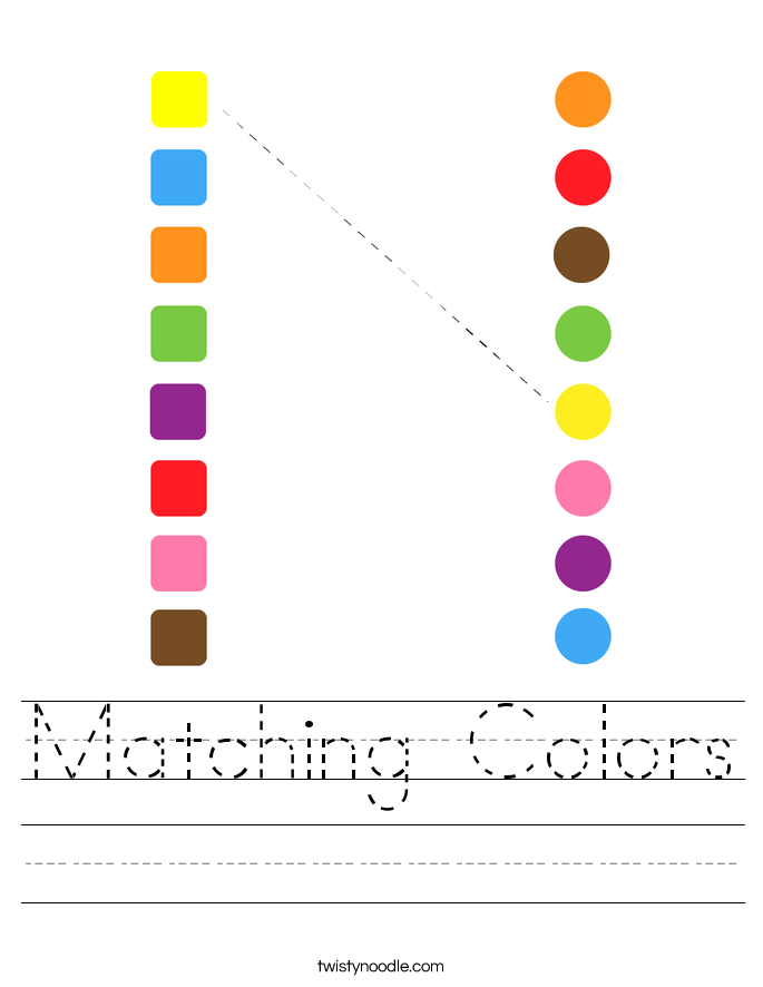 Matching Colors Worksheet