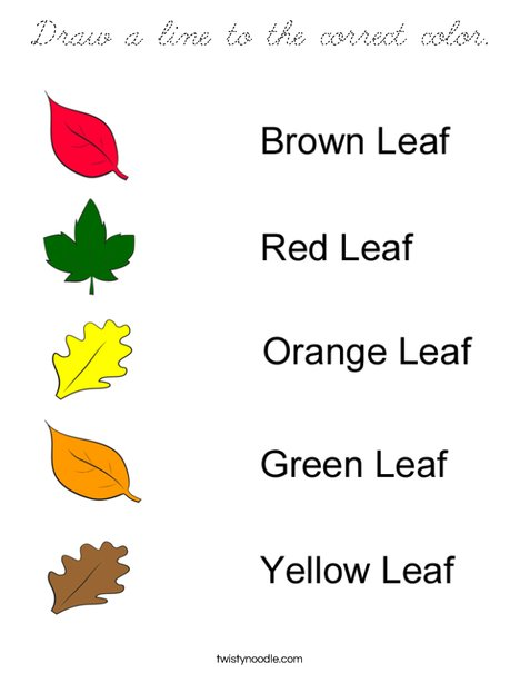 Matching Leaves Coloring Page