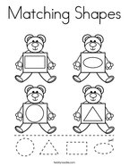 Matching Shapes Coloring Page