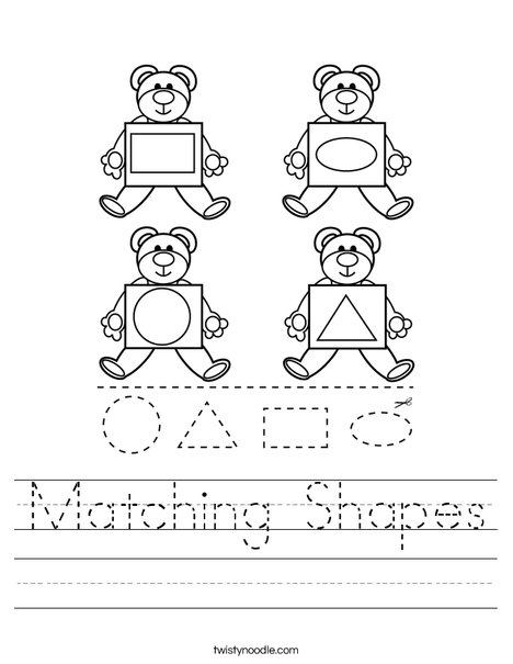 Matching Shapes Worksheet