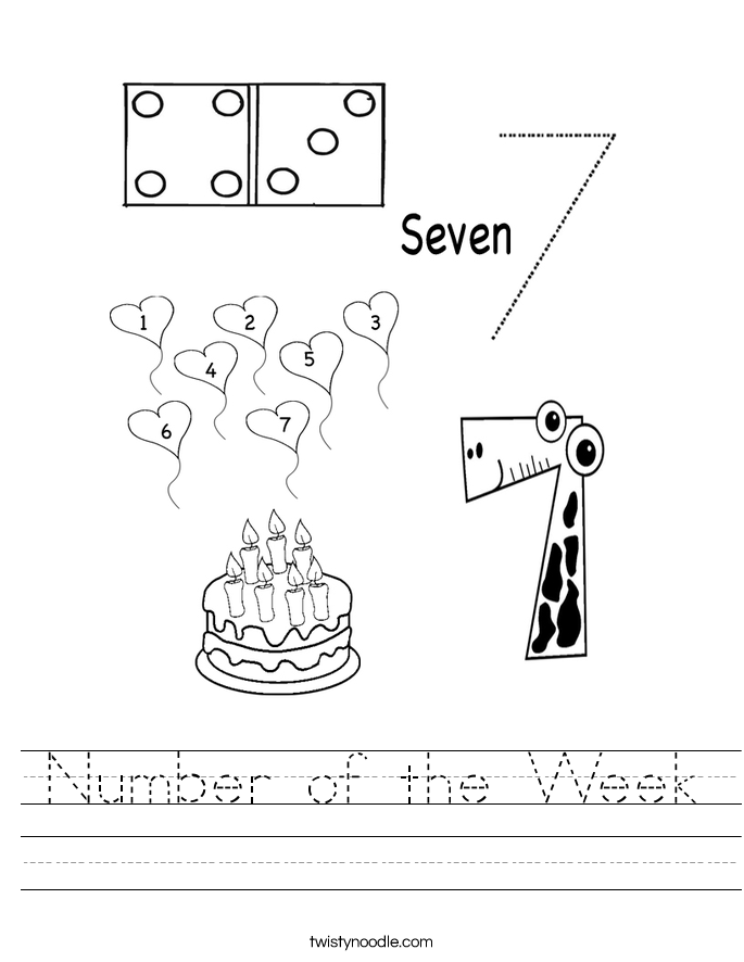 Number of the Week Worksheet
