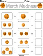 Add the Basketballs Math Worksheet