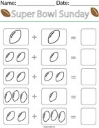 Add the Footballs Math Worksheet