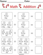 Add the Gingerbread Men Math Worksheet