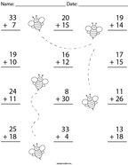Addition to 40 Math Worksheet