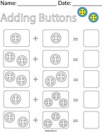 Adding Buttons Math Worksheet