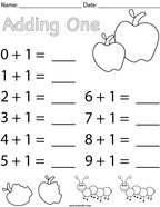 Adding One Math Worksheet
