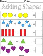 Adding Shapes Math Worksheet