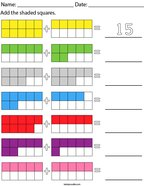 Addition with 10 frames-up to 20 Math Worksheet