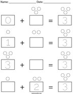Addition with 3 Math Worksheet