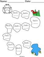 Hopping Multiplication Math Worksheet