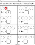 How many are left Math Worksheet
