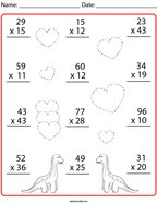 Multiplication- 2 Digit by 2 Digit Math Worksheet