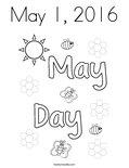 May 1, 2016 Coloring Page