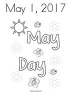May 1, 2017 Coloring Page