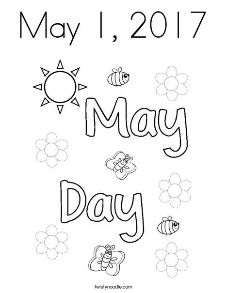May 1 Coloring Page