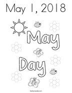 May 1, 2018 Coloring Page