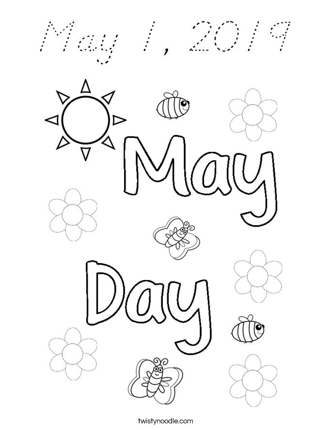 May 1, 2019 Coloring Page