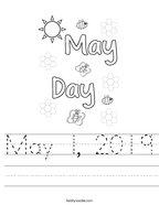 May 1, 2019 Handwriting Sheet