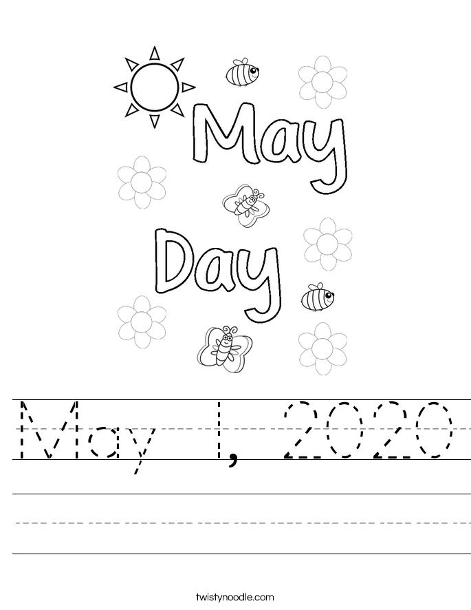 May 1, 2020 Worksheet