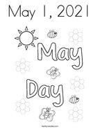 May 1, 2021 Coloring Page