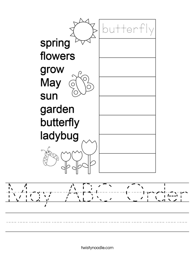 May ABC Order Worksheet