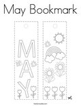 May Bookmark Coloring Page