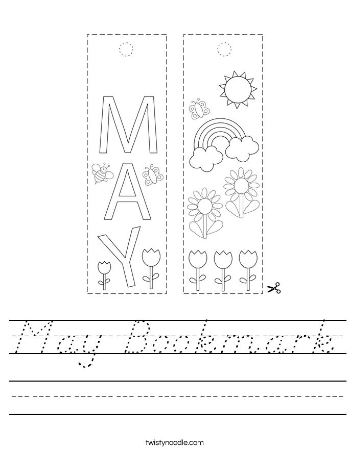 May Bookmark Worksheet