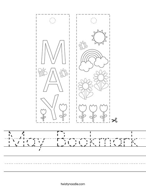 May Bookmark Worksheet
