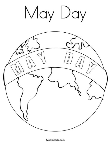 may day earth coloring page